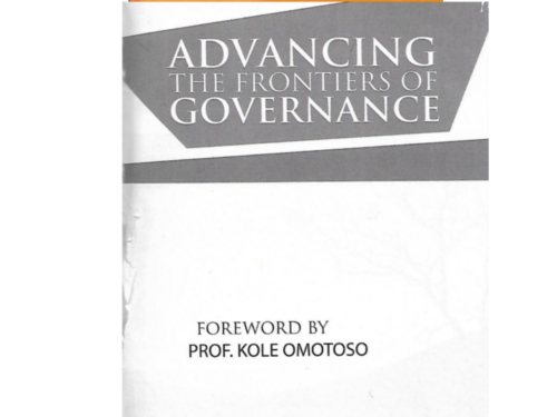 Advancing the frontiers of governance